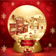 Christmas snowglobe with town - GraphicRiver Item for Sale
