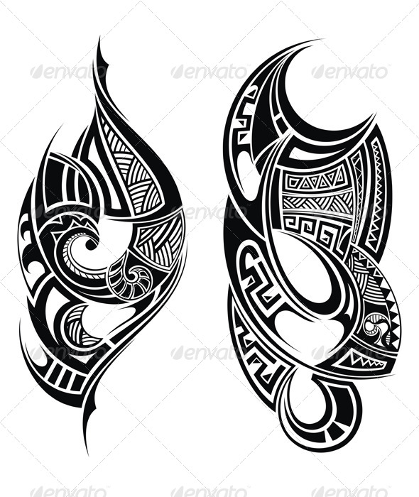 Tribal Tattoo - Decorative Symbols Decorative