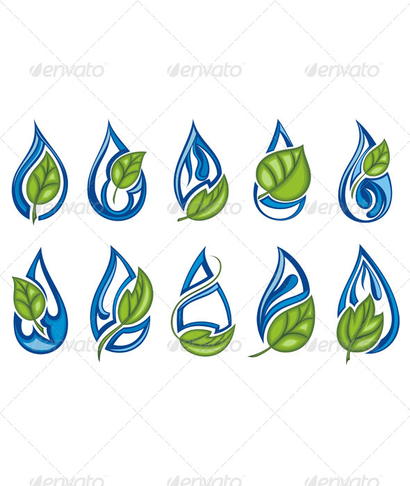 Water Drops - Decorative Symbols Decorative