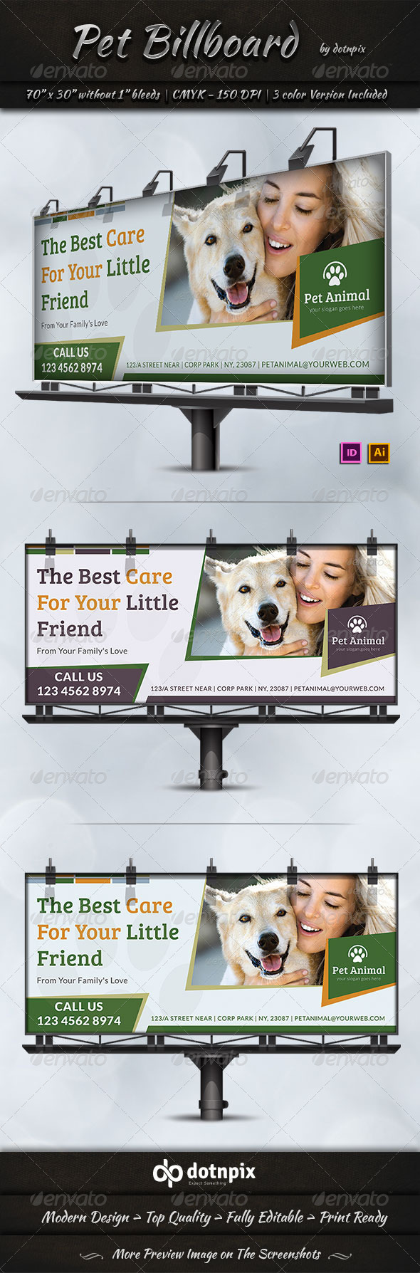 Pet Billboard Template - Signage Print Templates