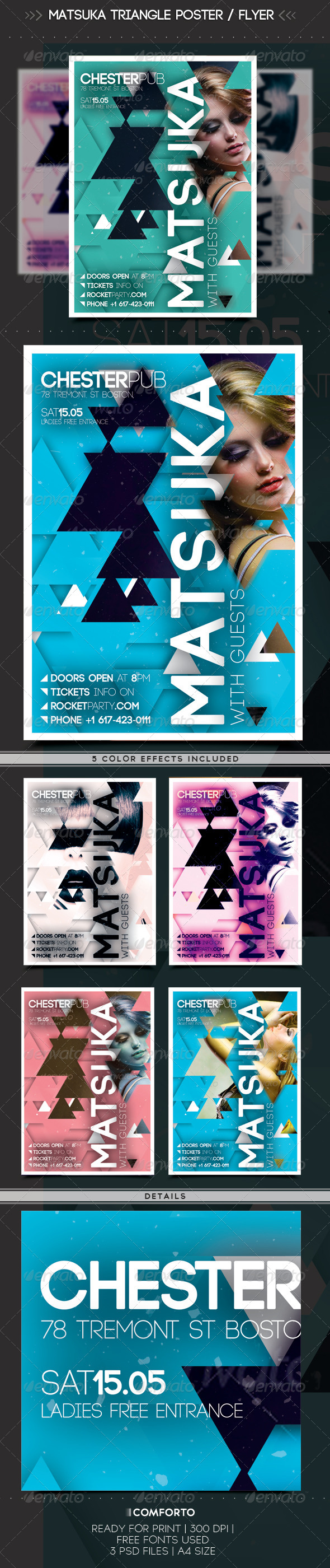 Matsuka Triangle Poster / Flyer - Clubs & Parties Events