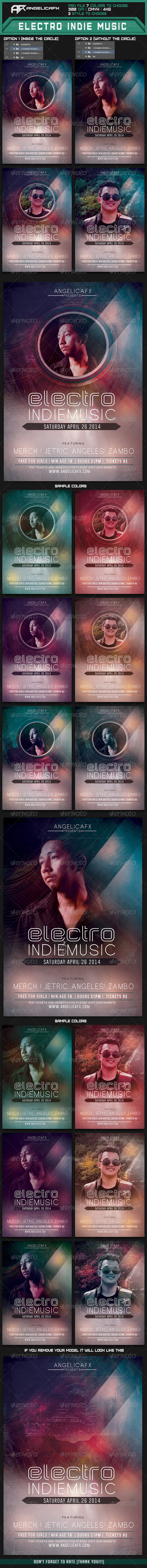 Electro Indie Music Flyer Template - Flyers Print Templates