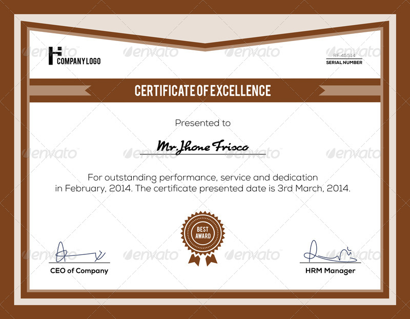 Corporate Certificate Template By Nasirktk Graphicriver