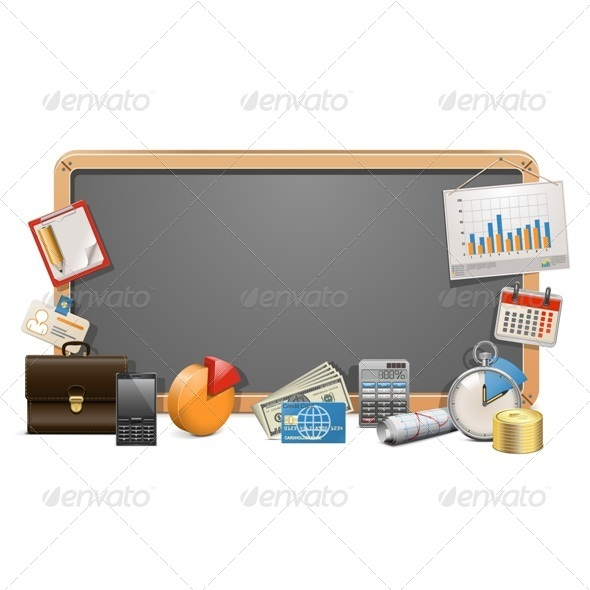 Vector Business Board - Concepts Business