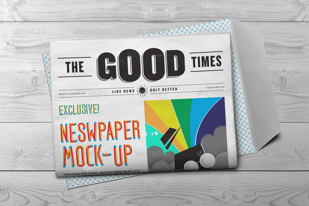 Newspaper Mock-Up by GrafAS | GraphicRiver