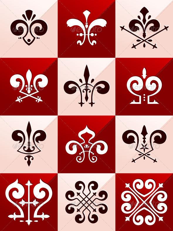Medieval Emblem Ornament Part 2 - Decorative Symbols Decorative