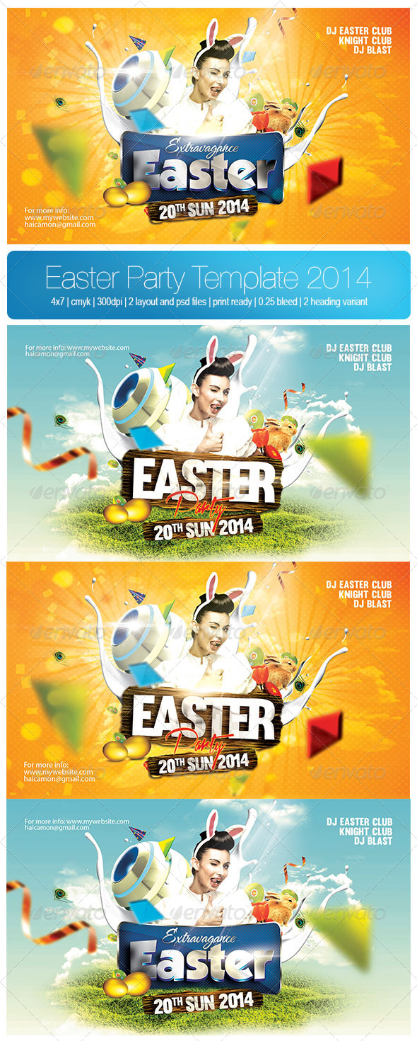 Easter Party Template 2014 - Holidays Events