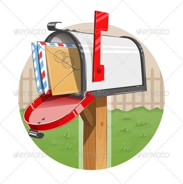 Mail Box with Letters - Man-made Objects Objects