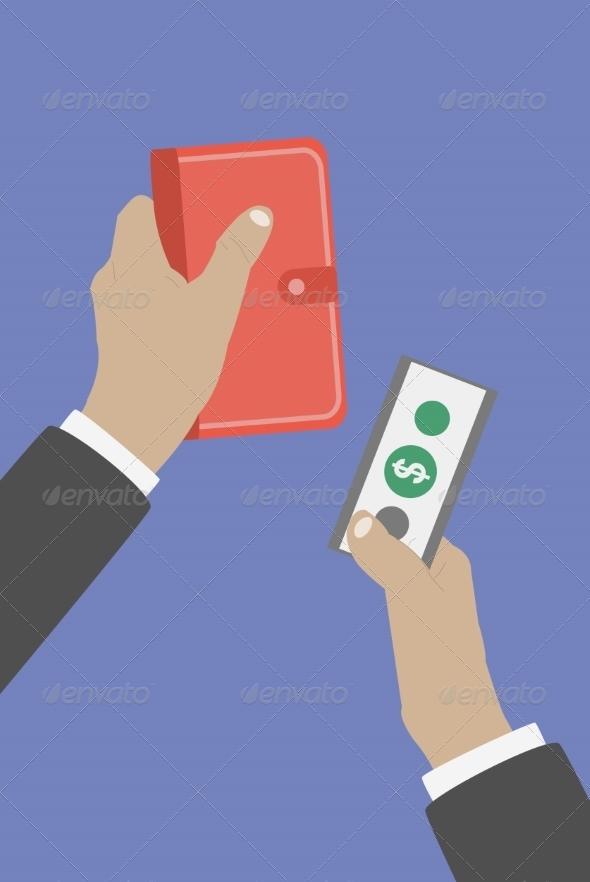 Hands Pay Cash - Concepts Business