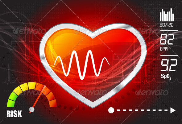 Heart Risk Assessment Illustration - Health/Medicine Conceptual