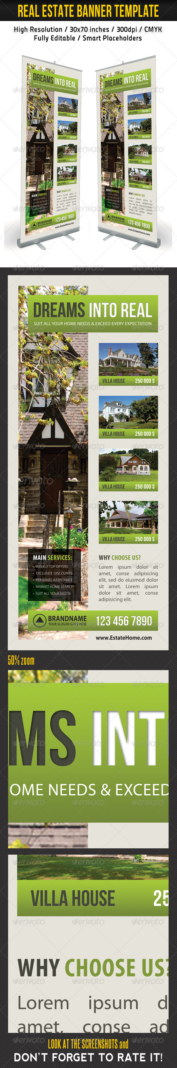 Real Estate Banner Template 12 - Signage Print Templates