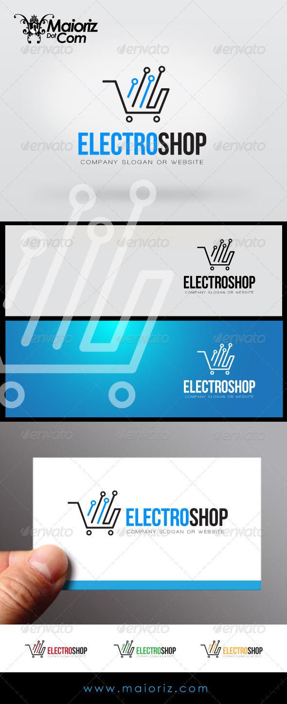 Electro Shop Logo - Vector Abstract