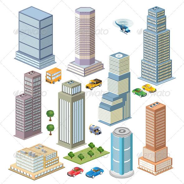 Skyscraper Set - Buildings Objects