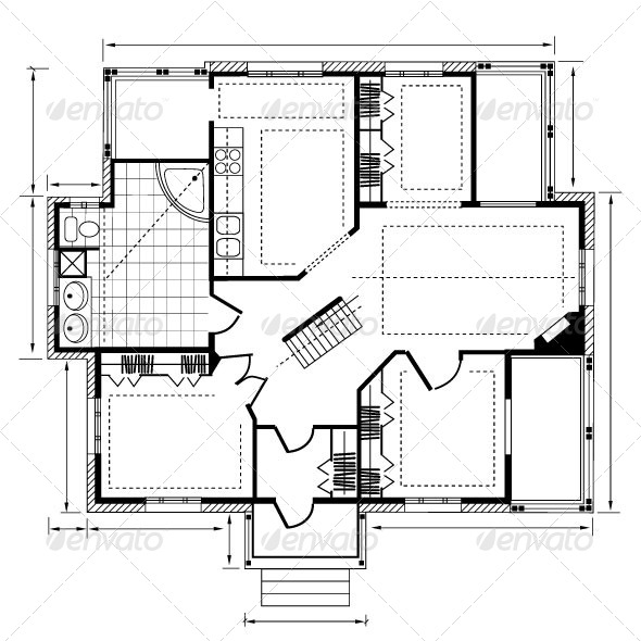 House Plan - Buildings Objects
