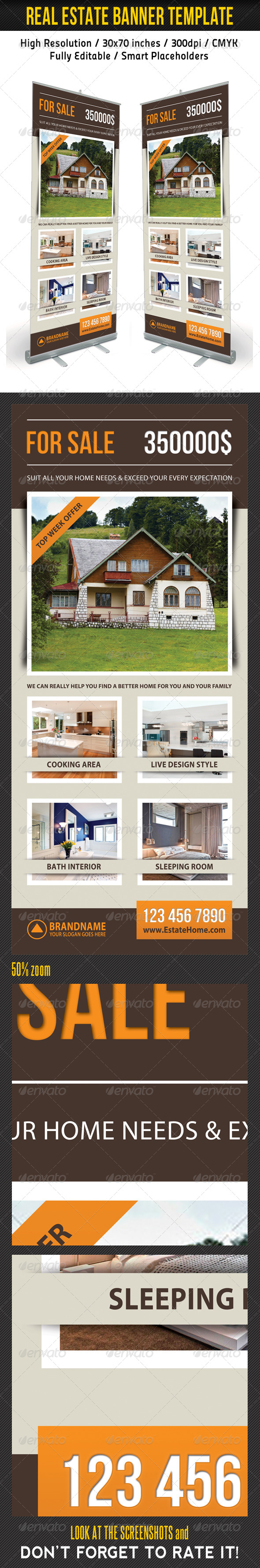 Real Estate Banner Template 13 - Signage Print Templates