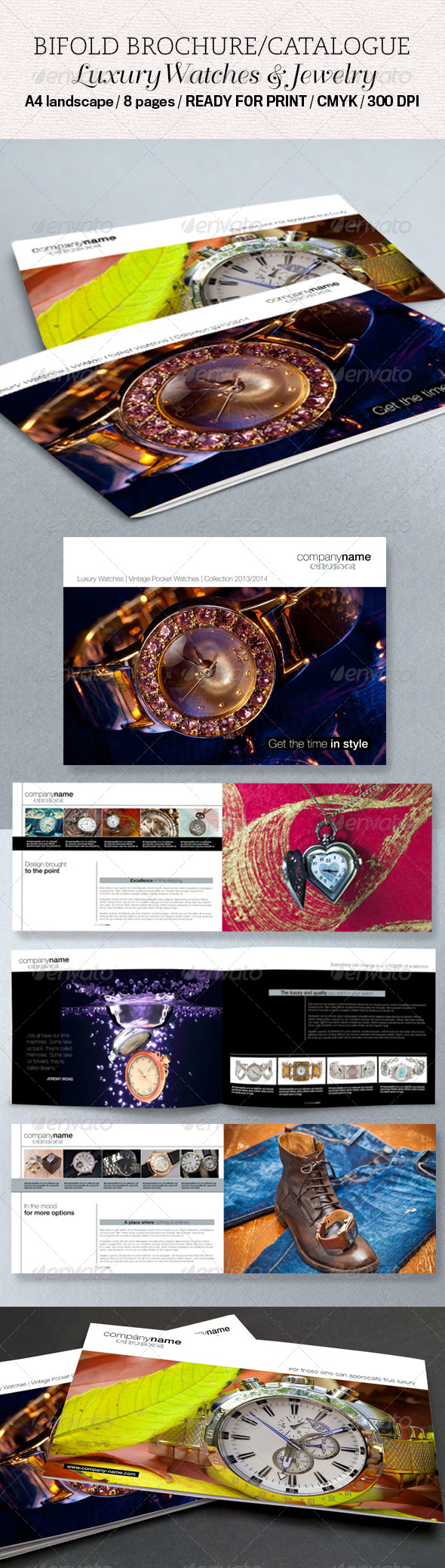 Luxury Bifold Brochure / Catalogue - Brochures Print Templates