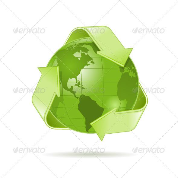 Green Globe - Objects Vectors