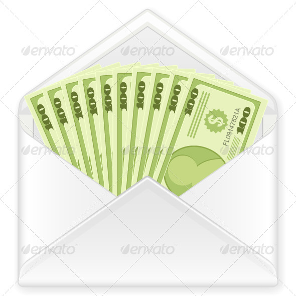 Envelope with Banknotes - Business Conceptual