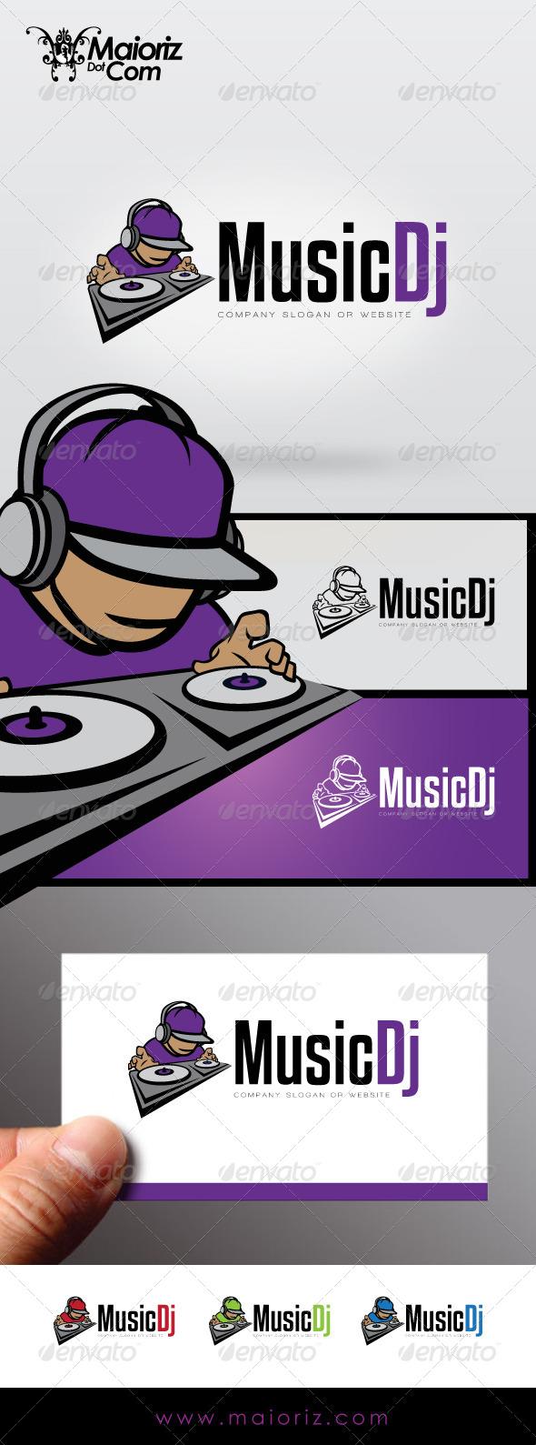 Music Dj Logo - Humans Logo Templates