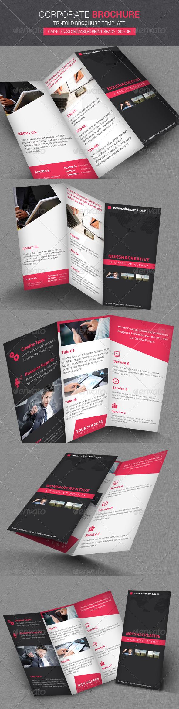 Corporate Tri Fold Brochure - Corporate Brochures