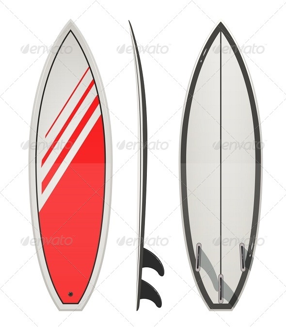Surfing Board - Man-made Objects Objects