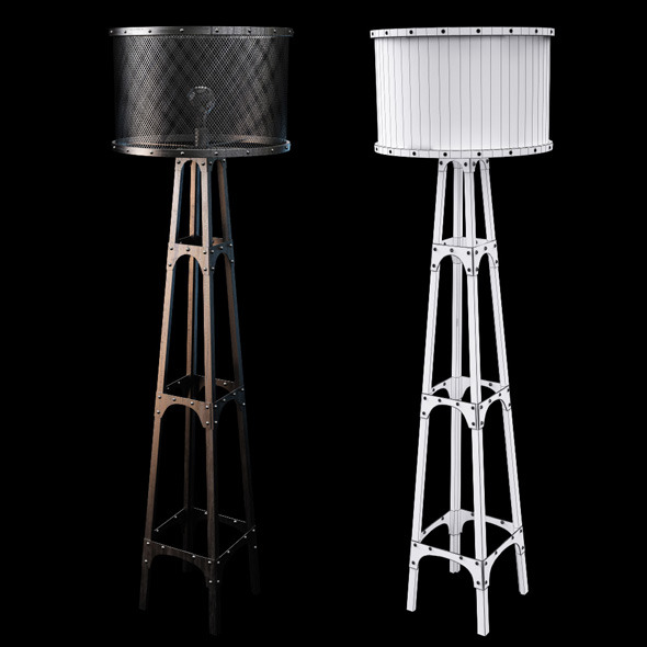 Chehoma floor lamp - 3DOcean Item for Sale