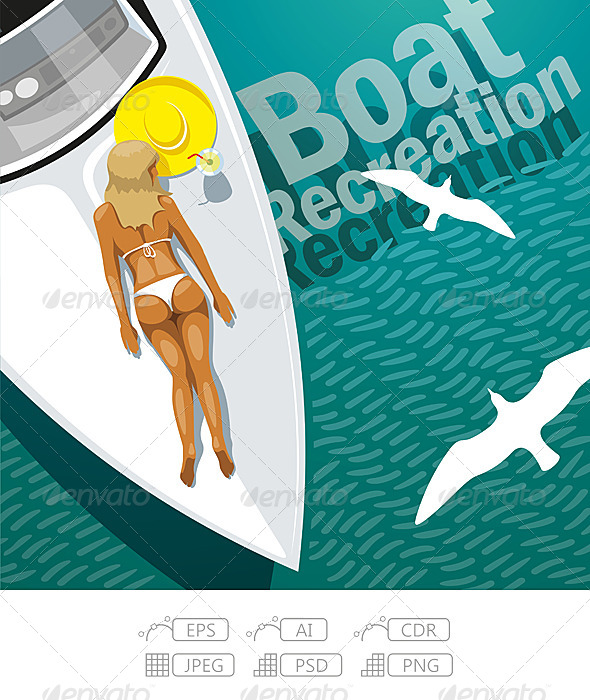 Boat Recreation - Travel Conceptual