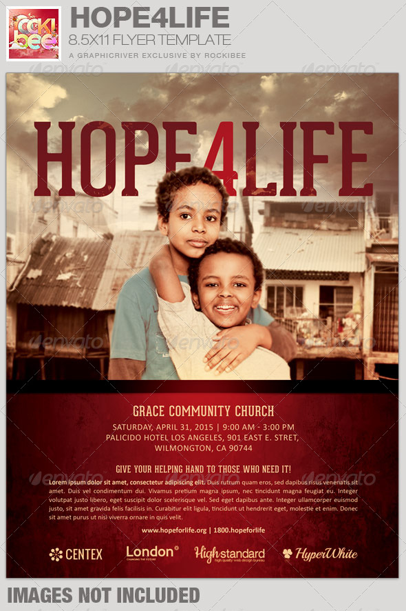 Hope4life Charity Event Flyer Template By Rockibee