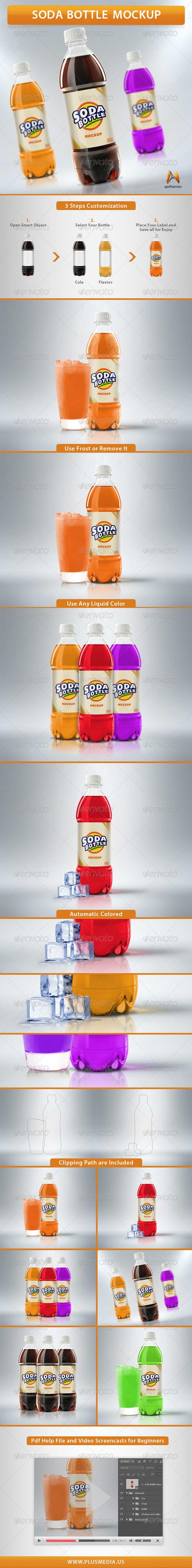 Soda Bottle Mockup - Food and Drink Packaging
