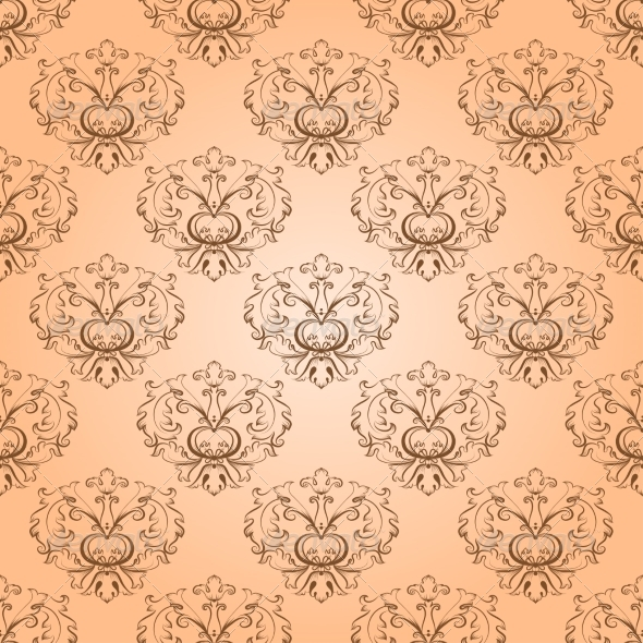 Seamless with Damask Elements - Backgrounds Decorative