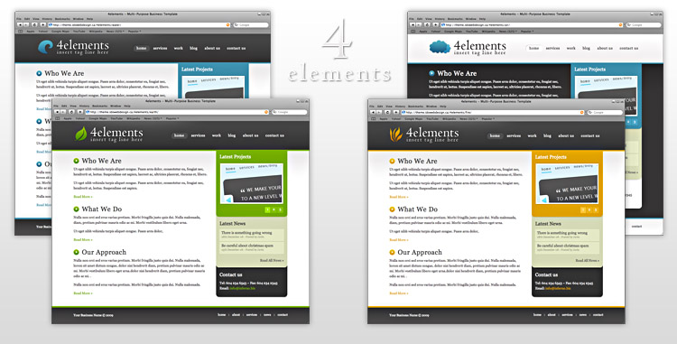 Free Download 4elements - Multi Purpose Business Template Nulled Latest Version
