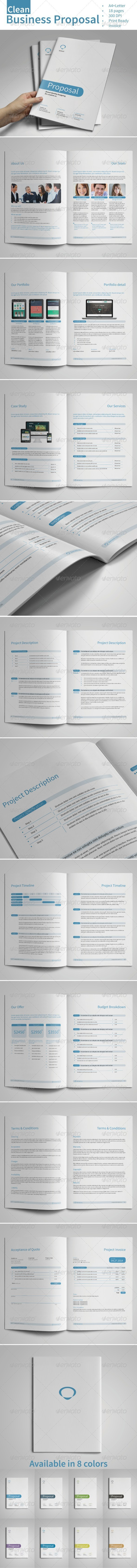 Clean Business Proposal Vol.2 - Proposals & Invoices Stationery