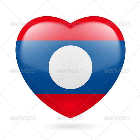 Heart Icon of Laos - Miscellaneous Vectors