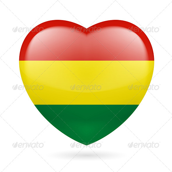 Heart Icon of Bolivia - Miscellaneous Vectors