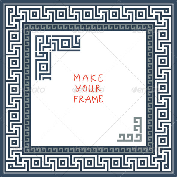 Frame with Greek Ornament - Patterns Decorative