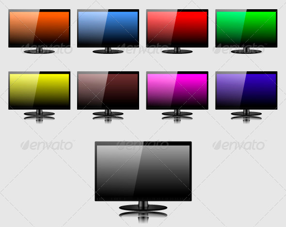 TV Screen - Vectors