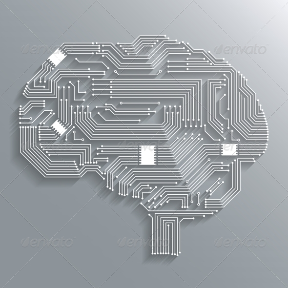 Circuit Board Brain - Concepts Business