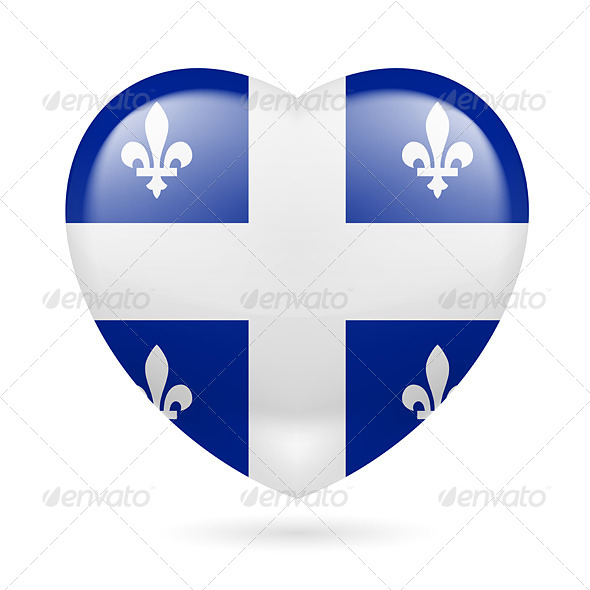 Heart Icon of Quebec - Miscellaneous Vectors