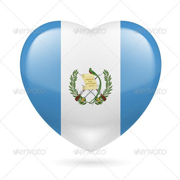 Heart Icon of Guatemala - Miscellaneous Vectors