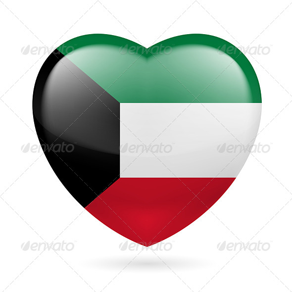 Heart Icon of Kuwait - Miscellaneous Vectors