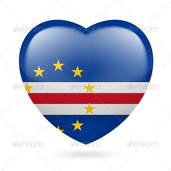 Heart Icon of Cape Verde - Miscellaneous Vectors