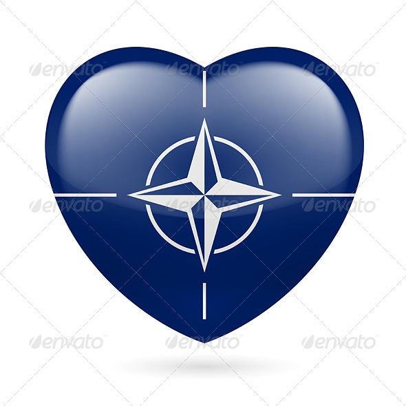 Heart Icon of NATO - Miscellaneous Vectors