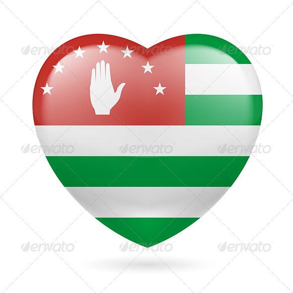 Heart Icon of Abkhazia - Miscellaneous Vectors