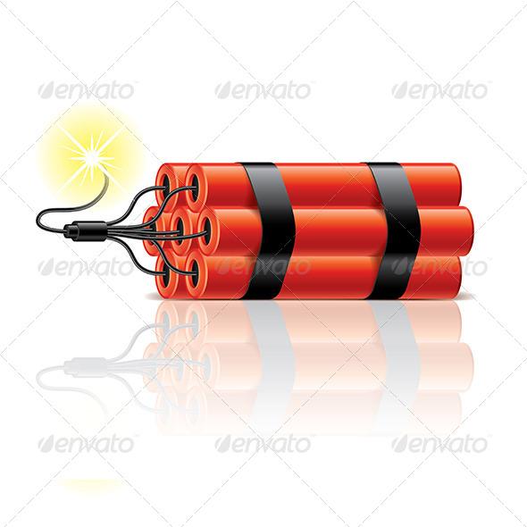 Dynamite Sticks Illustration - Man-made Objects Objects