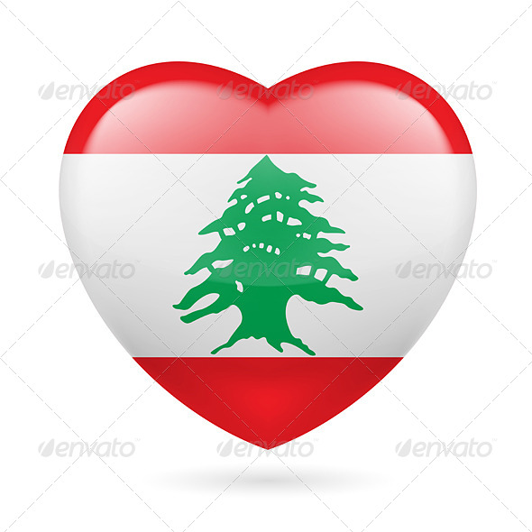 Heart Icon of Lebanon - Miscellaneous Vectors
