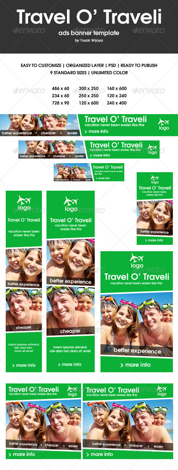 Travel O' Traveli - Banners & Ads Web Elements