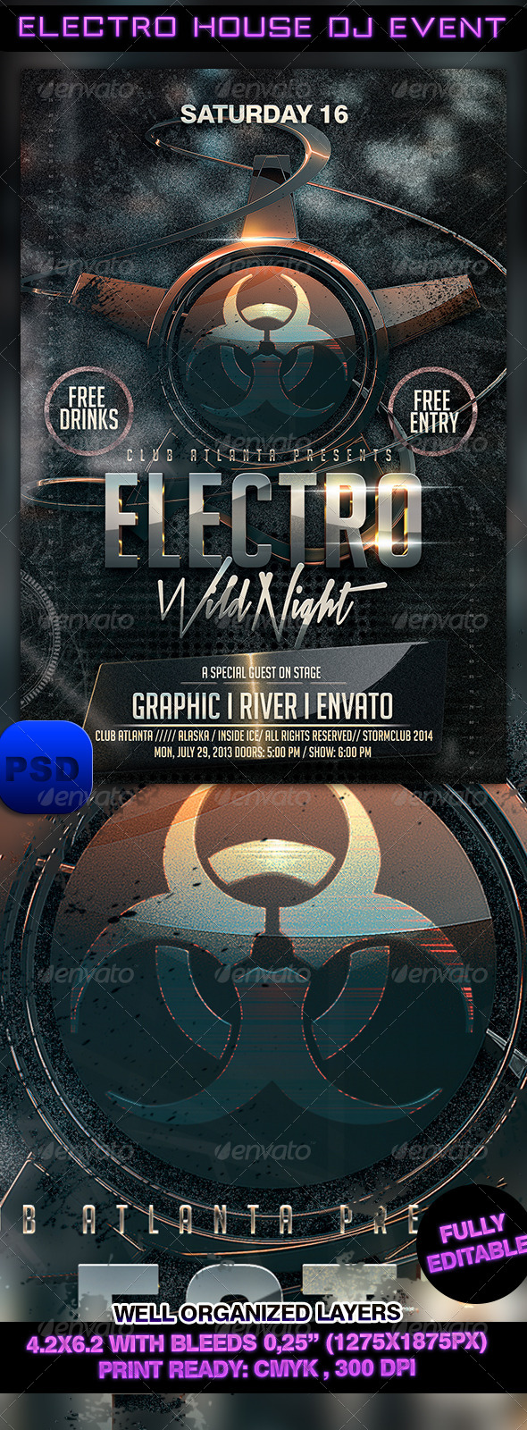 Electro House DJ Event - Events Flyers