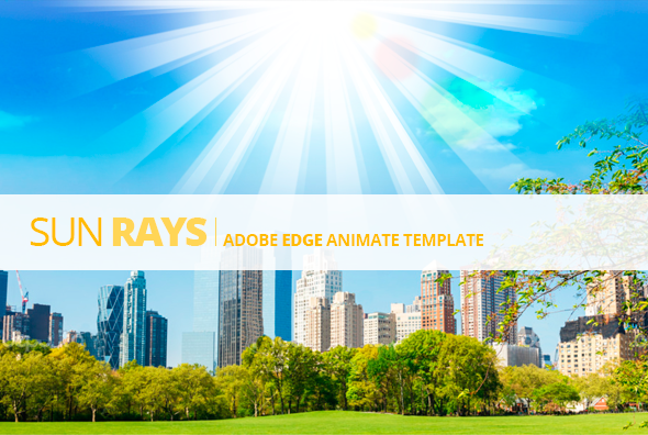 Edge Animate Sun Rays Template by touringxx | CodeCanyon