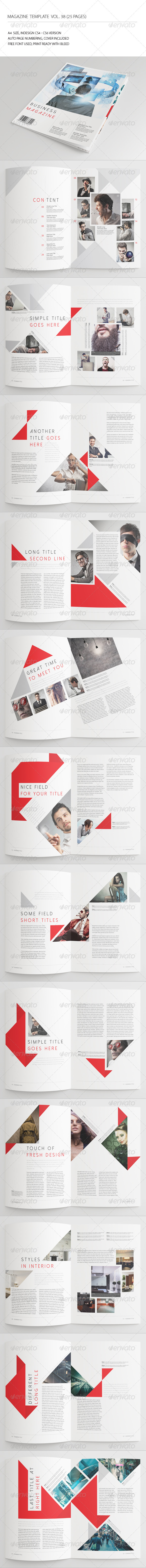 25 Pages Business Magazine Vol38 - Magazines Print Templates