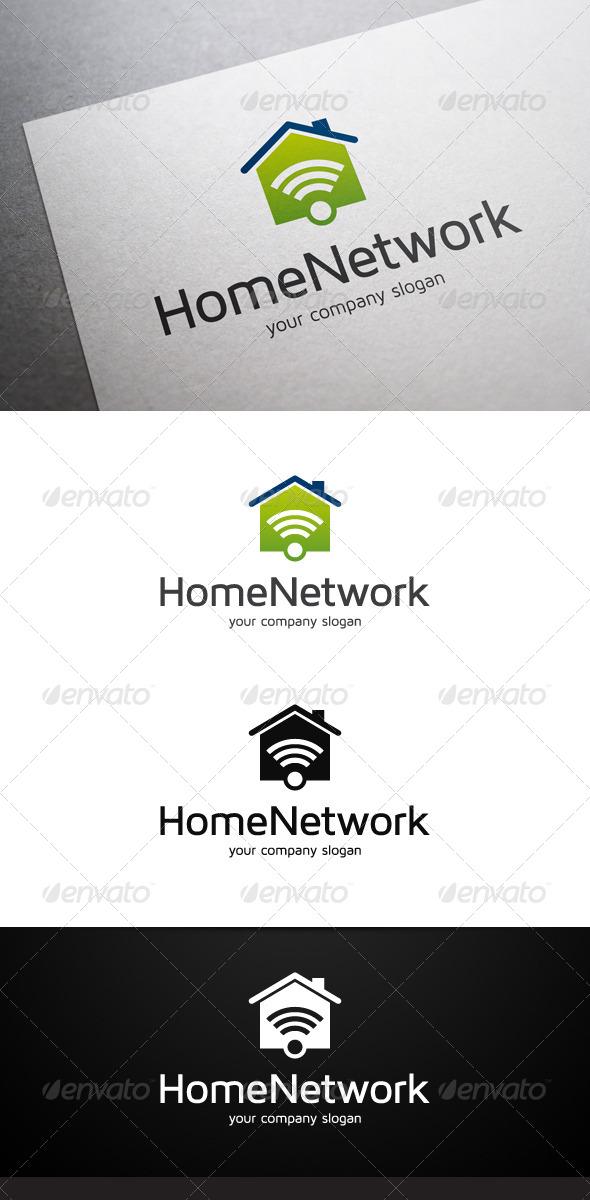 Home Network Logo - Buildings Logo Templates